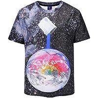 Männer Planet 3D Druck Kurzarm-T-Shirt Sommer Persönlichkeit Rundhalsausschnitt Kreative neue Trendy Marke Jugend Männer Kurzarm