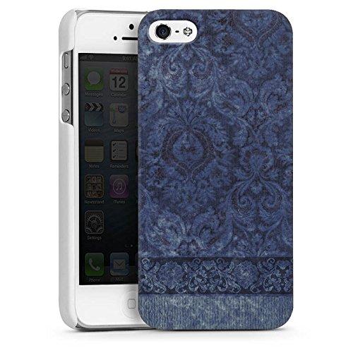 Apple iPhone 4 Housse Étui Silicone Coque Protection Ornements Motif Motif CasDur blanc