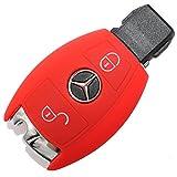 Schlüssel Hülle MC für 2 Tasten Auto Schlüssel Silikon Cover von Finest-Folia (Rot)
