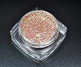 RM Beautynails Premium Glitzer Glitter Puder Pink Champagne für Nailart Nageldesign