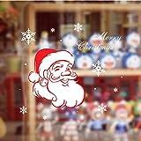 ZBYLL Pegatinas De Navidad Santa Claus El Copo De Nieve De Cristal Pegatinas De Pared Salón Decoración Pegatinas