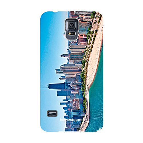 HomeSoGood Chicago City Multicolor 3D Mobile Case For Samsung S5 ( Back Cover)