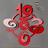 ARTI E MESTIERI Orologio da Parete Prince in Metallo Rosso