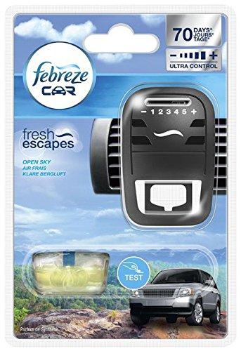 Klare Saubere Duft (Febreze Car Fresh Escape Auto- Lufterfrischerclip Starter Klare Bergluft (3er Pack))