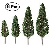 VORCOOL Mini Bäume Kiefer mit verschiedenen Abmessungen 8pcs