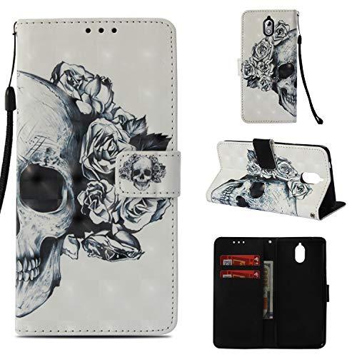 BONROY Nokia 3.1 Hülle-Kunstleder Wallet Case für Nokia 3.1 mit Kartenfächern und Stand-Shantou