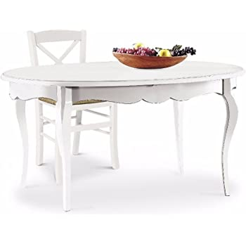 laquila design arredamenti 1289 classique table de salle manger style shabby chic - Table Ovale Extensible Design