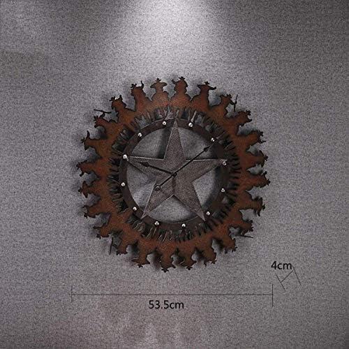 DollylaStore Horloge Murale créative Vieille Horloge en Fer forgé Pendentif Bar personnalité du Salon Mur Artisanat Horloge Murale | Bon Marché