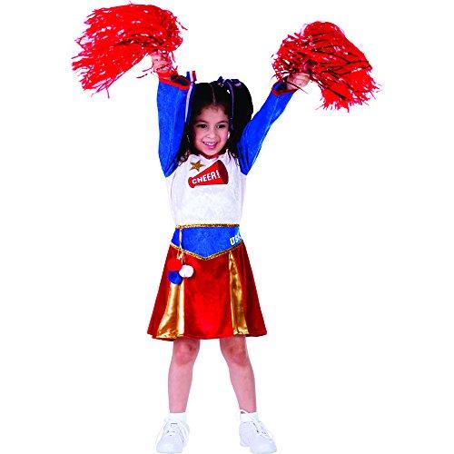 Dress Up America 765-M - American Cheerleader Kostüm, 8-10 Jahre, Taille 79 cm, Größe 123 cm, (Kleinkind Kleid Cheerleader Kostüme)