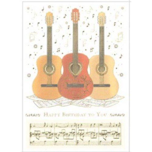 Guitar Trio Happy Birthday Greetings Card