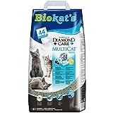 Biokat's Diamond Care Multicat Fresh Katzenstreu / Hochwertige Klumpstreu für Katzen mit Aktivkohle und Cotton Blossom Duft / 1 Papierbeutel (1 x 8 L)