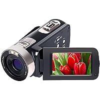 Caméscope Full HD 1080p 24,0 MP Caméra Vidéo Caméscopes Appareil Photo numérique 16x Zoom numérique 270 degré de Rotation pour Auto-Fonction Pause