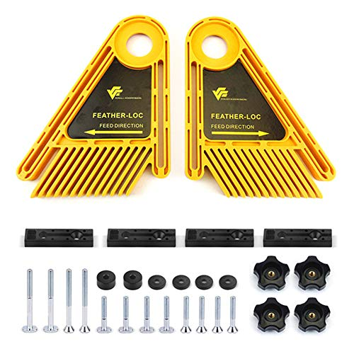 Featherboard Kit (Mayyou Featherboards Spring Ioc Board, Tischsägen Woodworking Graving Machine Board Fixed Plate Pulley Retainer Tool)