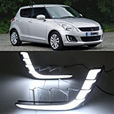 Automaze Car Fog Lamp Daytime Time Running Lights (DRL) For Swift 2011-2014 Models, 2 Pc set, Neon DRL