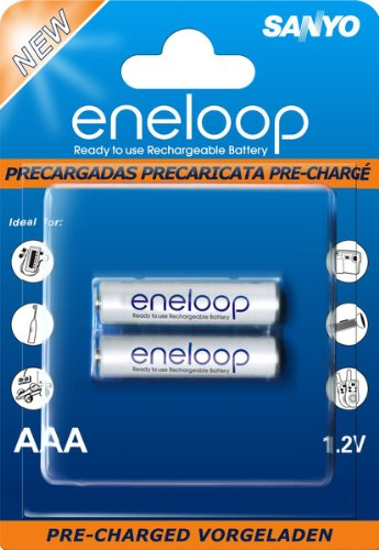 Sanyo eneloop Pile AAA Mignon (confezione da 2)