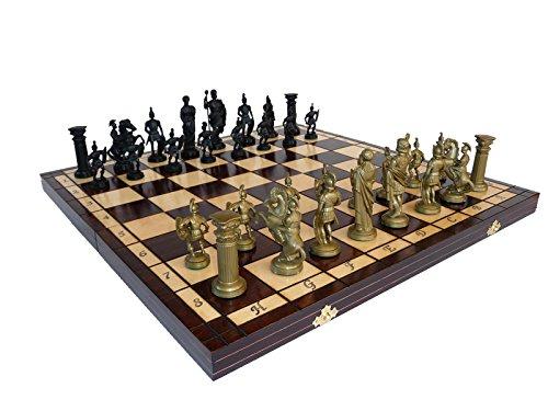 Exklusive-SPARTA-495-cm195-Zoll-dekorative-Holz-Schachspiel-mit-gewogenen-Stcke