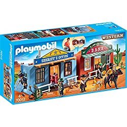 Playmobil- Ciudad del Oeste Maletín Juguete, (geobra Brandstätter 70012)