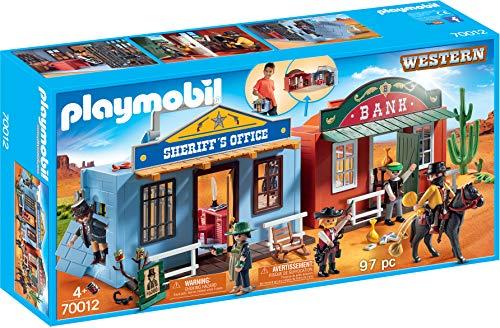 Playmobil- Ciudad del Oeste Maletín Juguete