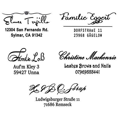 Personalizzato timbro indirizzo,Timbri autoinchiostranti per timbri indirizzo, 3 linee,coppia indirizzo timbro auto inchiostrazione gomma