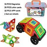 Kleinkind Spielzeug Magnetische Bausteine Set, 30 Stück Standard Set Kreativität Pädagogische Spielzeug für Christmas Geburtstag Kindertag Geschenk