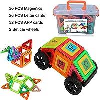 Introduzione:       - Apri la porta per l'immaginazione senza limiti! Lascia correre la creatività dei tuoi bambini. Con i Magnetic Building Blocks, impareranno le forme, la costruzione e molto altro! E avere infinite quantità di divertimento fa...