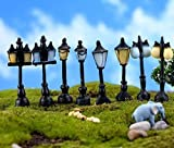 urgrace 8pcs simulazione vintage strada lampada strada luce casa delle bambole terrario muschio micro giardino paesaggio sabbia miniature world accessori fai da te
