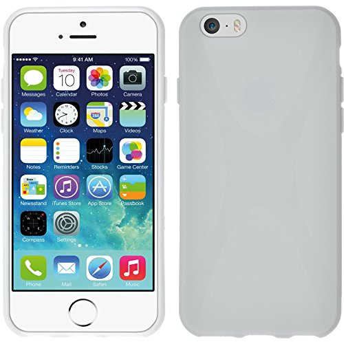 Coque en Silicone pour Apple iPhone 6s / 6 - X-Style transparent - Cover PhoneNatic Cubierta Case blanc