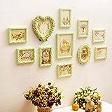 QU HUAI DONG AA Foto Wand Wohnzimmer Solide Geschnitzte Dekorative Restaurant Fotorahmen Wand Wand Foto Wand Home (Farbe : B)