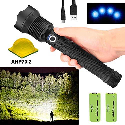 Led Taschenlampe 9000 Lumen Xhp70.2 Leistungsstärkste Taschenlampe 26650 USB-Taschenlampe Xhp70 Xhp50 Laterne 18650 Jagdlampe Handlicht