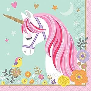 Amscan International-Servilletas de 511929lunch-printedln mágico Unicorn