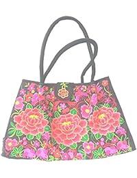DIETZ Shopper mit floralem Muster bestickt 51x31x18cm