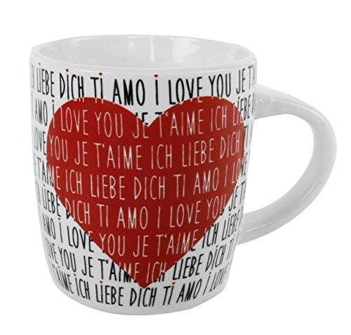 """Tasse """"Ich liebe Dich"""" Ø8 cm, H= 9,5cm"""