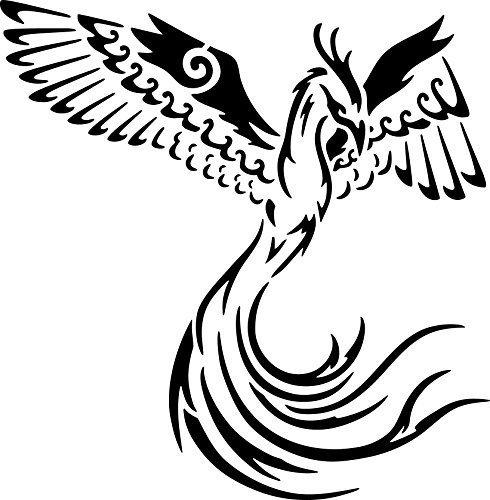 UNLIMITED STENCILS XL Airbrush Tattoo Schablone PHOENIX # 132