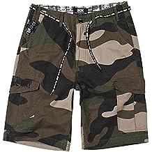 DGK Men's O.G. Cargo Shorts Big Woods Camo Green