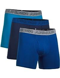 """Under Armour Charged hombre de algodón elástico 6""""Boxers, 3unidades - 1277279, azul brillante/azul marino (Brilliant Blue/Midnight Navy)"""