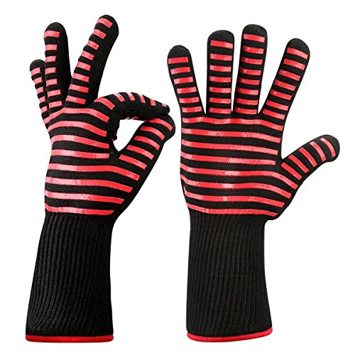 Guantes de horno, Hotchy Guantes de horno resistentes al calor hasta 500 ° C guantes para hornear certificados, guantes de horno, guantes de barbacoa, guantes para hornear para cocinar (1 par)
