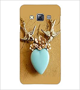 PrintDhaba Heart D-2264 Back Case Cover for SAMSUNG GALAXY A3 (Multi-Coloured)