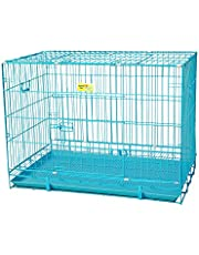 Smarty Pet Paws Dog Cage with Removable Tray (Blue, 30 Inch Medium)