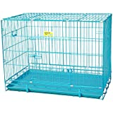 Smarty Pet Paws For A Cause Imported Dog Cage With Removable Tray Blue 36 Inch Large