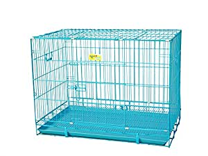 Smarty Pet Paws For A Cause Dog Cage Blue Indian 36 Inch Large With Removable Tray (Blue_Large)
