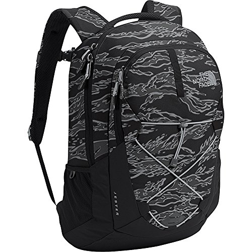 The North Face Jester Black Tiger Camo/Grey Unisex Outdoor (Tiger Camo Black)