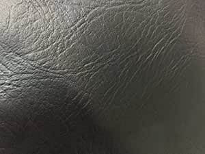 Jet black textured heavy duty faux Leather fabric upholstery Car Seats VW/BMW Fabric vinyl Leatherette Fabrics Faux Leather chair covering Material - sold by the Metre 140cm wide [Prestige Fabrics] *UK DISTRIBUTOR* by Prestige Fashion UK Ltd