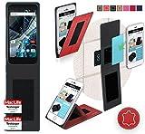reboon Hülle für Archos 55 Graphite Tasche Cover Case Bumper | Rot Leder | Testsieger