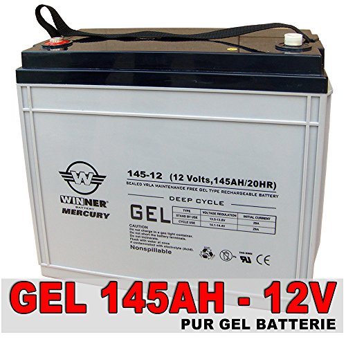 Preisvergleich Produktbild GEL Batterie 145Ah - 12V Akku Solarbatterie Mover Traktions Boot Wohnmobil Batterie Versorgungsbatterie