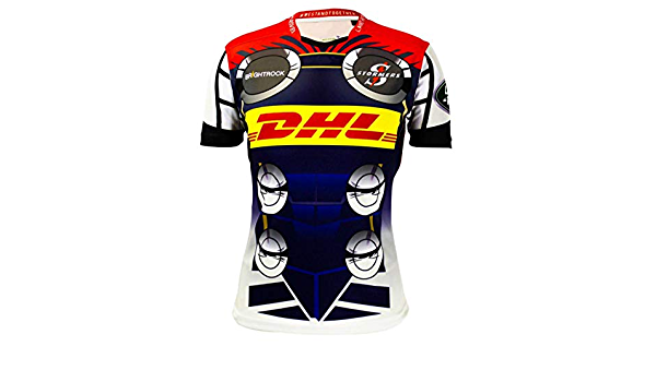 CRBsports Stormers Maillot De Rugby Hero Edition Nouveau Tiss/é Brod/é Swag Sportswear