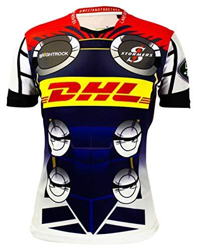CRBsports Stormers, Maglia da Rugby, Hero Edition, Nuovo Tessuto Ricamato, Swag Sportswear (Multicolore, L)