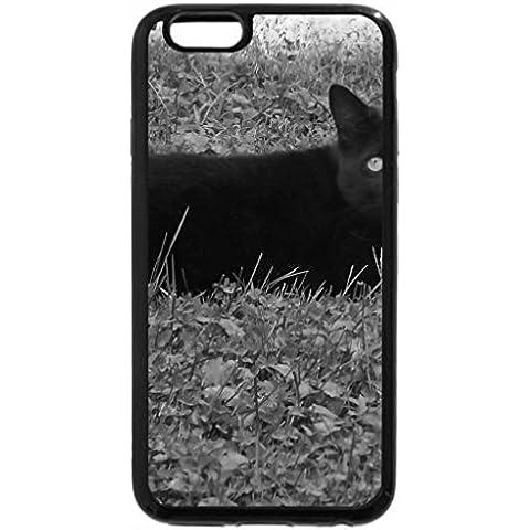 6S-Cover per iPhone Plus, iPhone 6 Plus Case & bianco (nero) per carbone, colore: nero