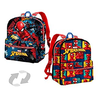 51z4cJutG1L. SS324  - Karactermania Spiderman Smash Mochila Infantil, 31 cm, Azul