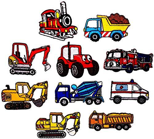 i-Patch - Patches - 0196 - Feuerwehr - Polizei - Lastwagen - Traktor - Bagger - Trecker - Auto - Flicken - Aufnäher - Badges - Bügelbild - Aufbügler - Iron-on - DIY - Applikation - zum aufbügeln