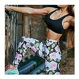 DOUPJ Pantaloni da Yoga da Donna Fitness Leggings Sportivi Pantaloni Elastici Sottili Sottili Stampa Digitale Taro Pantaloni A Vita Alta, Troie